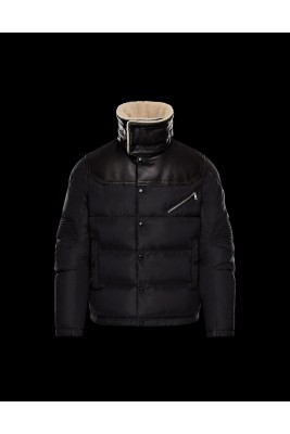 2017 New Style Moncler Men Down Jackets Stand Collar Black