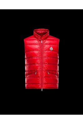 2017 New Style Moncler Unisex Down Vests Zip Red