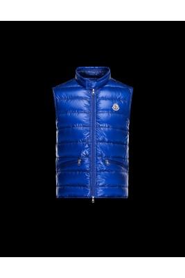 2017 New Style Moncler Unisex Down Vests Zip Blue