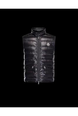 2017 New Style Moncler Unisex Down Vests Zip Black