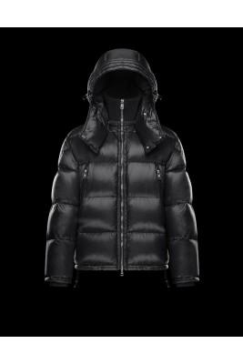 2017 New Style Moncler Millais Down Jackets For Men Zip Black