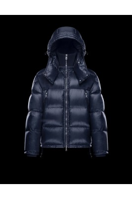 2017 New Style Moncler Millais Down Jackets For Men Zip Blue