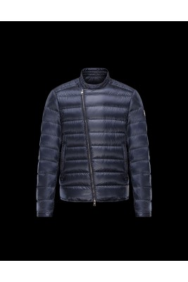 2017 New Style Moncler Down Jackets For Men Zip Navy