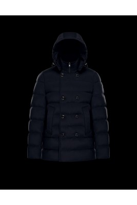 2017 New Style Moncler Down Jackets Mens Double Breasted Navy