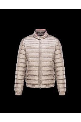 2017 New Style Moncler Mens Down Jackets Stand Collar Apricot