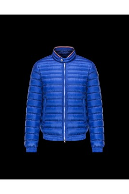 2017 New Style Moncler Mens Down Jackets Stand Collar Blue