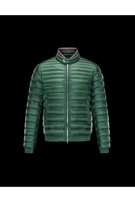 2017 New Style Moncler Mens Down Jackets Stand Collar Green