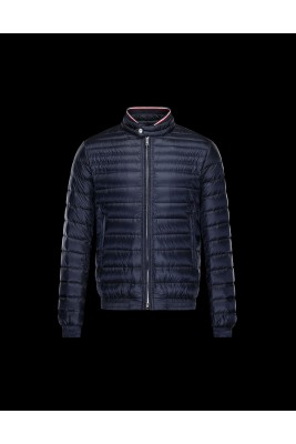 2017 New Style Moncler Mens Down Jackets Stand Collar Navy