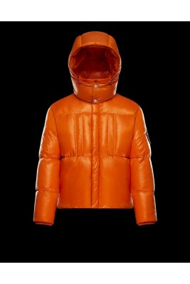 2017 New Style Moncler Mens Down Jackets Zip Orange