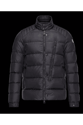 2017 New Style Moncler Eric Fashion Men Down Jackets With Zip Black