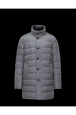 2017 New Style Moncler Top Quality Mens Down Coats Single Breasted Grey