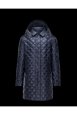 2017 New Style Moncler Mens Long Coat Blue Down Jackets