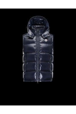 2017 New Style Moncler Maya Winter Mens Down Vests Fabric Smooth Navy