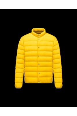 2017 New Style Moncler Leon Fashion Mens Down Jackets Yellow