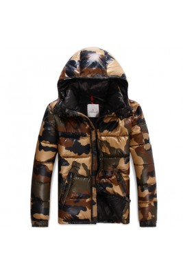 2017 New Style Moncler Cesar Down Mens Brown Jackets Camouflage