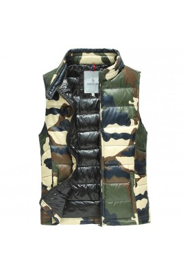 2017 New Style Moncler Men Army Green Vest Sleeveless Camouflage