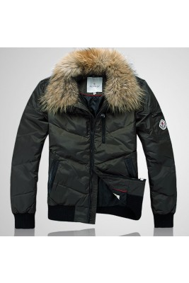 2017 New Style Moncler Down Jackets Handsome Men Army Green