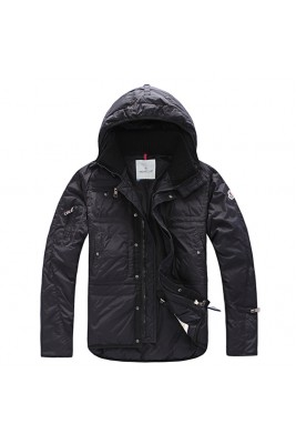2017 New Style Moncler Down Style Jackets Men Zip Black