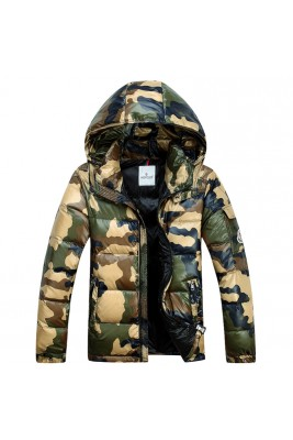 2017 New Style Moncler Mens Down Jackets Zip Camouflage