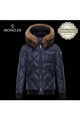 2017 New Style Moncler Mens Down Jackets Zip Blue