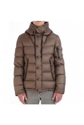2017 New Style Moncler Fashion Down Jackets Handsome Men Brown