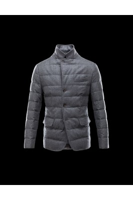 2017 New Style Moncler Leisure Mens Down Jackets Grey