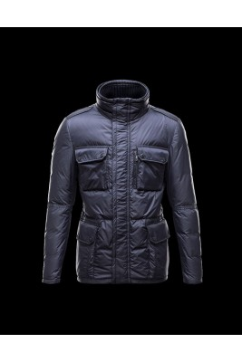 2017 New Style Moncler Leisure Mens Down Jackets Multi Pocket Blue