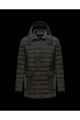 2017 New Style Moncler Mens Single Breasted Coat Black