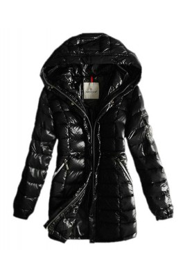 Moncler Coats Women Breasted Pure Color Black
