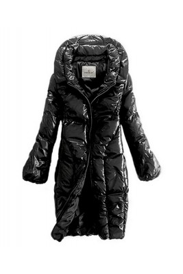 Moncler Down Women Coats Zip Style Long Black