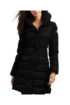 Moncler Fashion Leisure Women Down Coats Goose Long Black