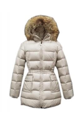 Moncler Gueran Classic Coats Women Down Long Zip White