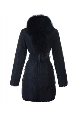 Moncler Lievre Womens Coat Designer Long Black