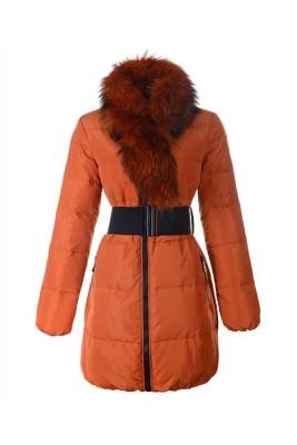 Moncler Lievre Womens Coat Designer Long Gold