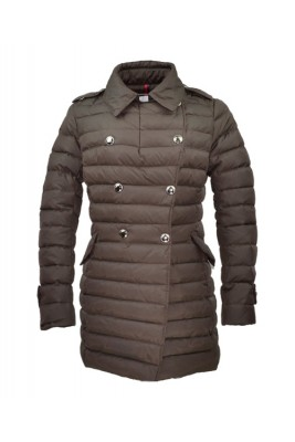 Moncler Loire Coat Women Fur Hoodie Zip With Button Black