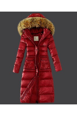 2016 Moncler Down Coat Featured Women Slim Windproof Red