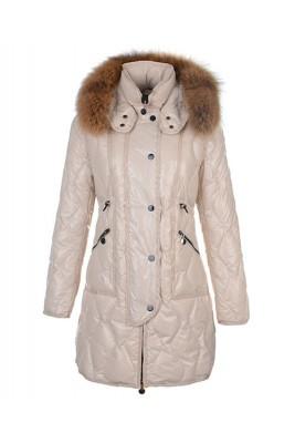 Moncler Lontre Designer Coat For Women Apricot