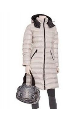 Moncler Moka Euramerican Style Womens Down Coats Zip White