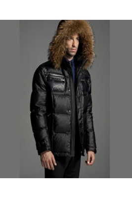 2016 Moncler Down Jackets Mens Brief Paragraph Black