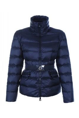 Moncler Adour Euramerican Style Women Jackets Belt Blue
