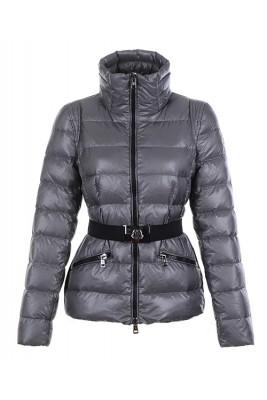 Moncler Adour Euramerican Style Women Jackets Belt Silver Grey