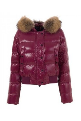 Moncler Alpin Classic Eider Down Jackets Women Fur Collar Dark R
