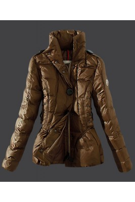 2016 Moncler Down Jackets Womens Stand Collar Green Card