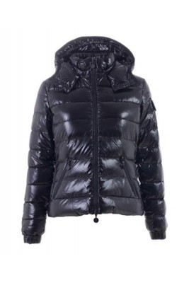 Moncler Bady Winter Women Down Jacket Zip Hooded Black