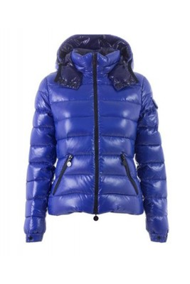Moncler Bady Winter Women Down Jacket Zip Hooded Blue