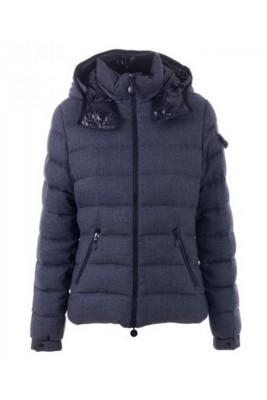 Moncler Bady Winter Women Down Jacket Zip Hooded Dark Gray