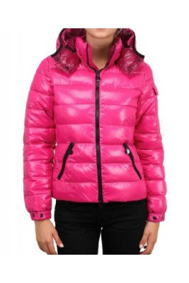 Moncler Bady Winter Women Down Jacket Zip Hooded Pink