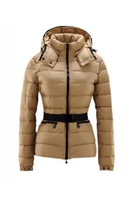 Moncler Bea Euramerican Style Women Jackets Zip Belt Khaki