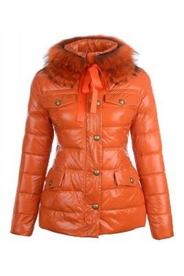 Moncler Cachalot Designer Jackets Down Women Short Orange