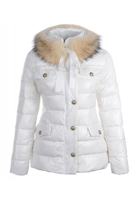 Moncler Cachalot Designer Jackets Down Women Short White